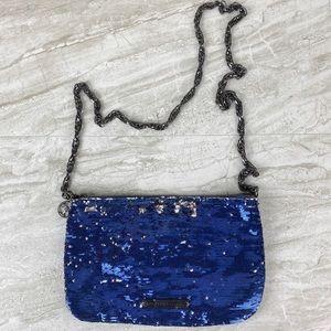 Rachel Roy   sequin blue sliver crossbody bag